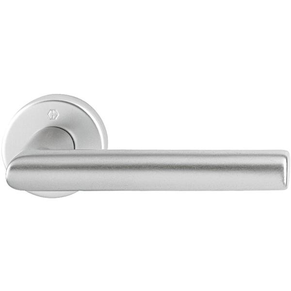 Handtag ytterdörr Amsterdam F1 65-75 Aluminium-silver Hoppe