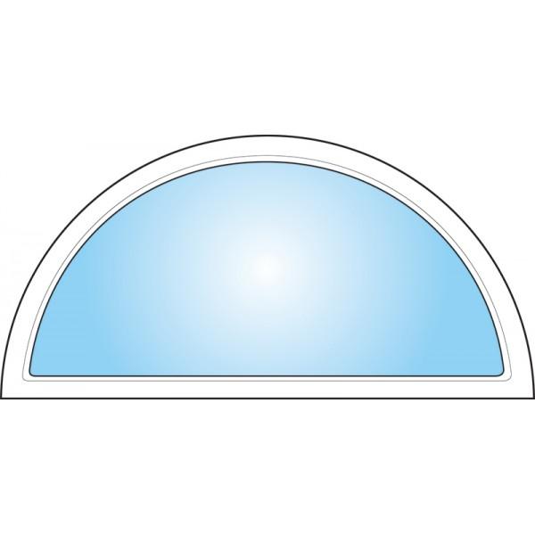 Dekorfönster Halvmåne helglas Modul 12x6