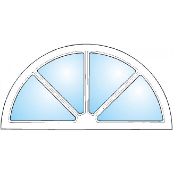 Dekorfönster Halvmåne spröjs Modul 12x6