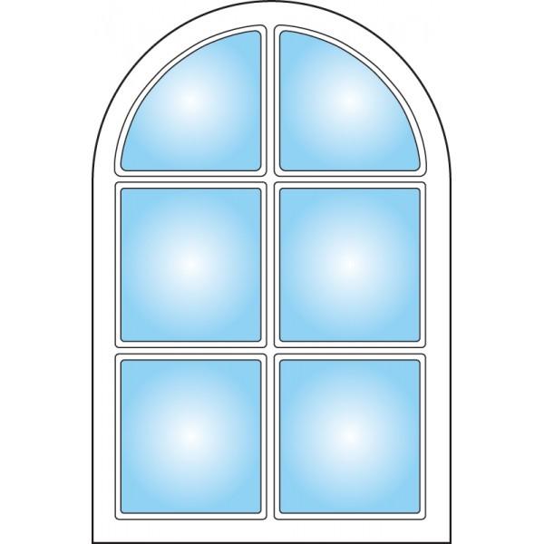 Dekorfönster Kloster Modul 4x6