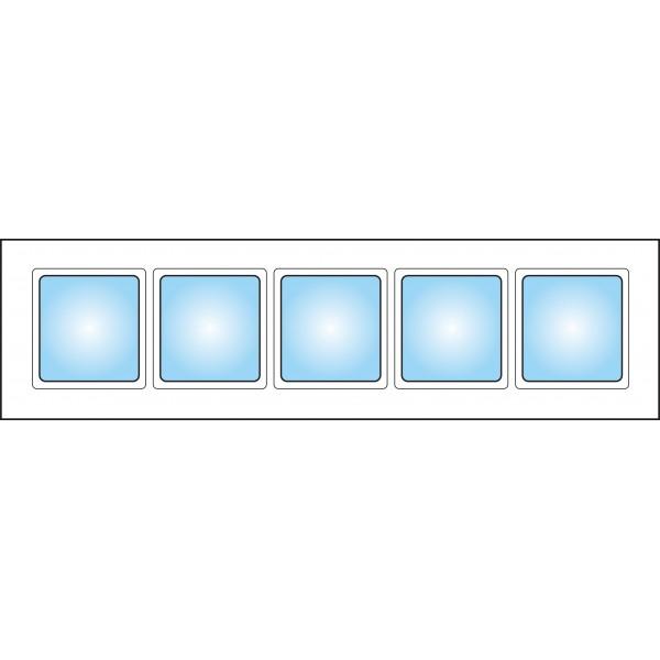 Dekorfönster Kombi överljus