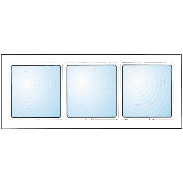 Dekorfönster Kombi med spröjs nr2 stående eller liggande Modul 9x4