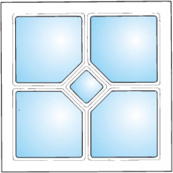 Dekorfönster Romb 1
