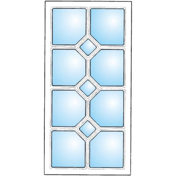 Dekorfönster Romb 3 Modul 6x12