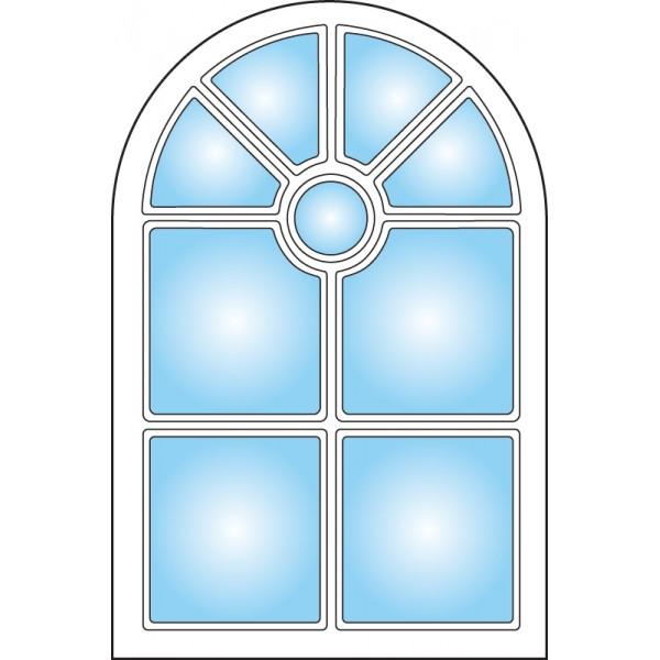 Dekorfönster Slott Modul 8x12