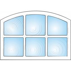 Dekorfönster Stallfönster 6-rutor Modul 8x6