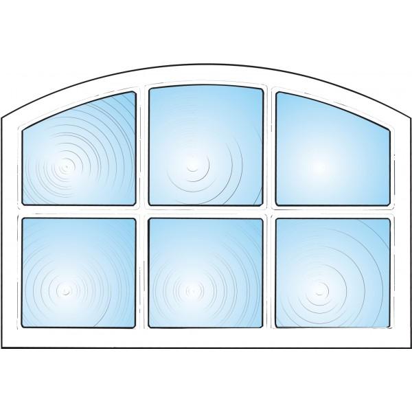 Dekorfönster Stallfönster 6-rutor Modul 10x7