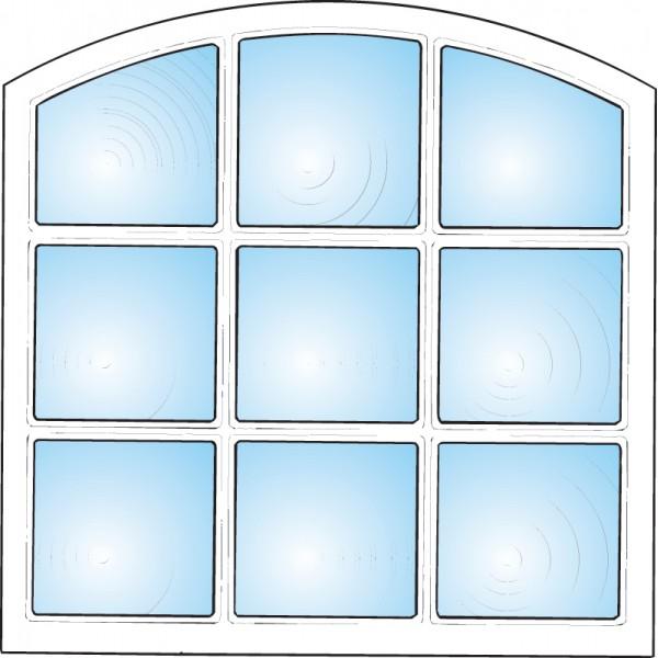 Dekorfönster Stallfönster 9-rutor Modul 10x10