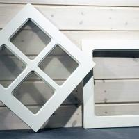 Dekorfönster Fyrkant, liggande/diagonalt med/utan spröjs