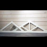 Dekorfönster trekant med och utan spröjs