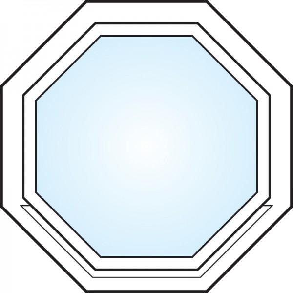 Fönster 3-glas energi argon 8-kant vitmålat