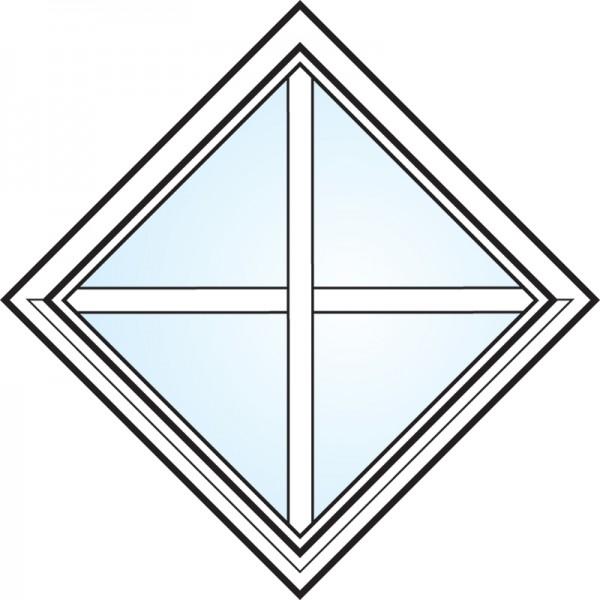 Fönster 3-glas energi argon fyrkant med spröjs nr 2