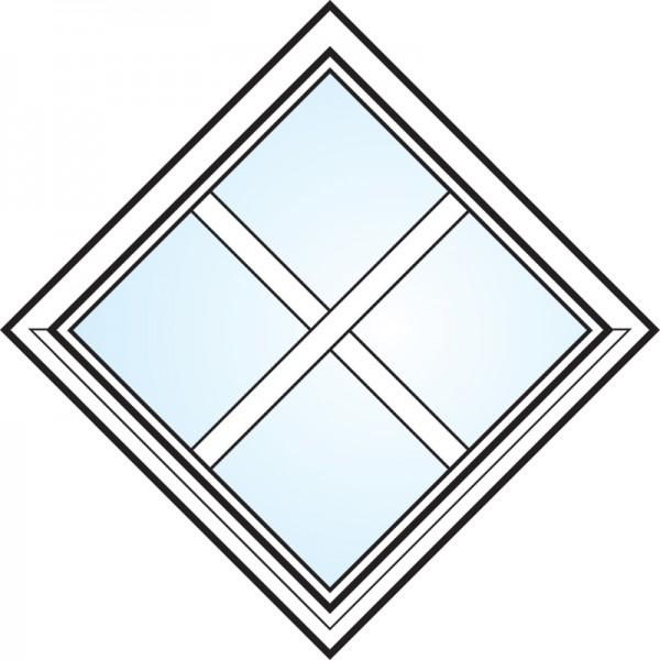 Fönster 3-glas energi argon fyrkant med spröjs nr 1