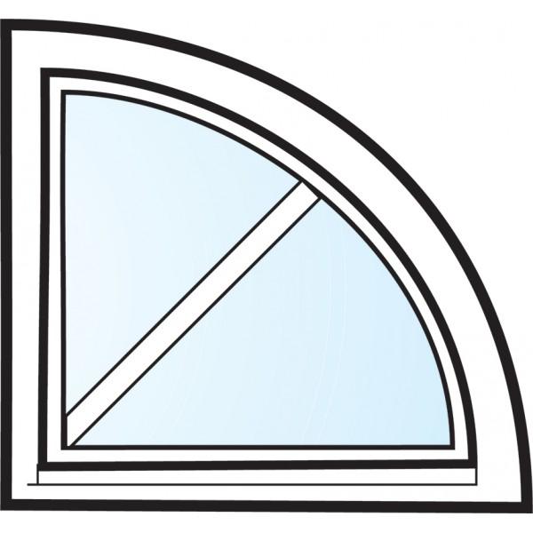Fönster 3-glas energi argon kvartsmåne med spröjs