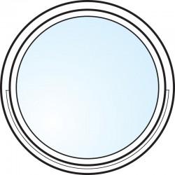 Fönster 3-glas energi argon rund Modul 12