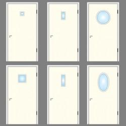 Glas till dörrar