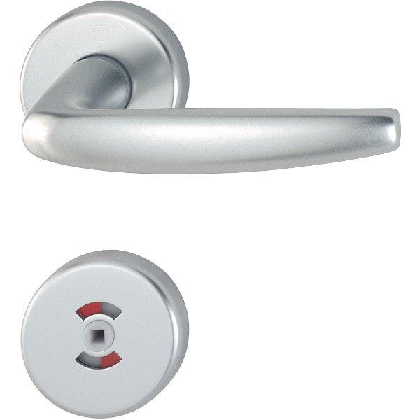 Handtag innerdörr Hoppe Atlanta Aluminium i silver nyans