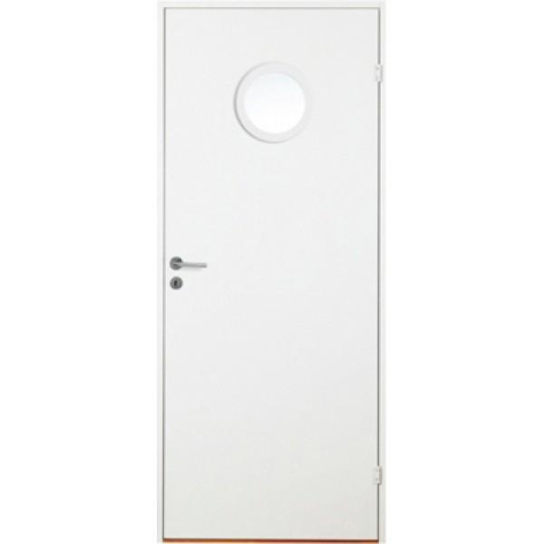 Innerdörr slät kompakt runt glas gammal standard mått