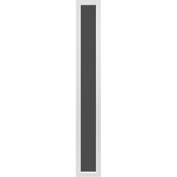 Sidoljus vitmålat frostat glas Modul 3x21 - Lagervara