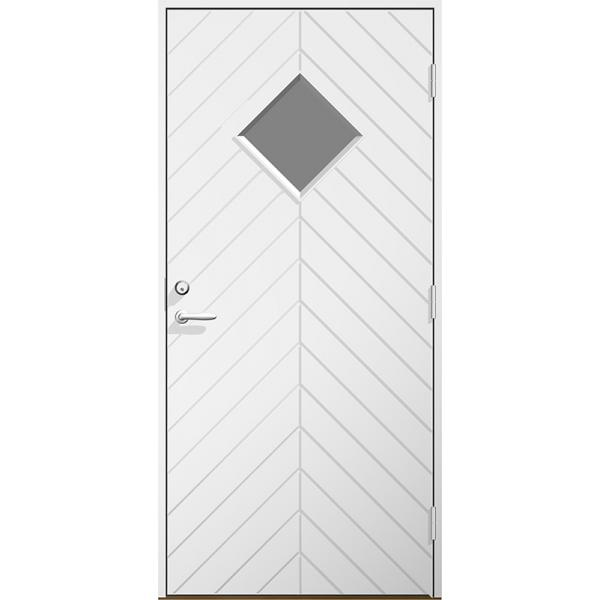 Ytterdörr Emil klarglas Lagervara - Vitmålad Modul 8x21 Höger