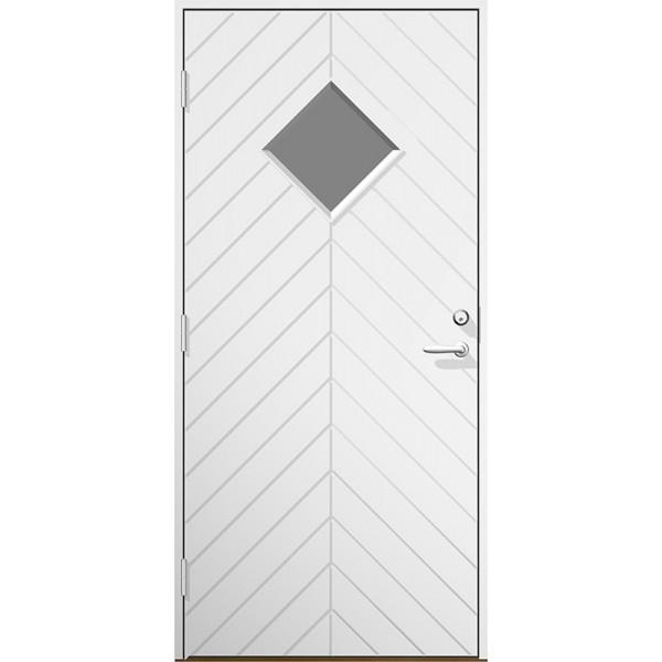 Ytterdörr Emil klarglas Lagervara - Vitmålad Modul 9x21 Vänster