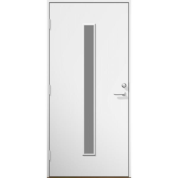 Ytterdörr Irene vitlackerad etsat (frostat) glas - Lagervara - M9x21 Vänster
