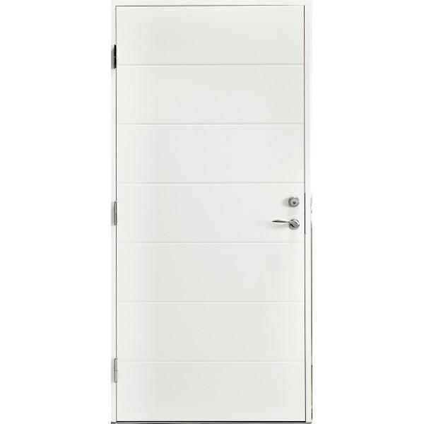Ytterdörr Lena 63 HDF lagervara - vitmålad M10x21 Vänster