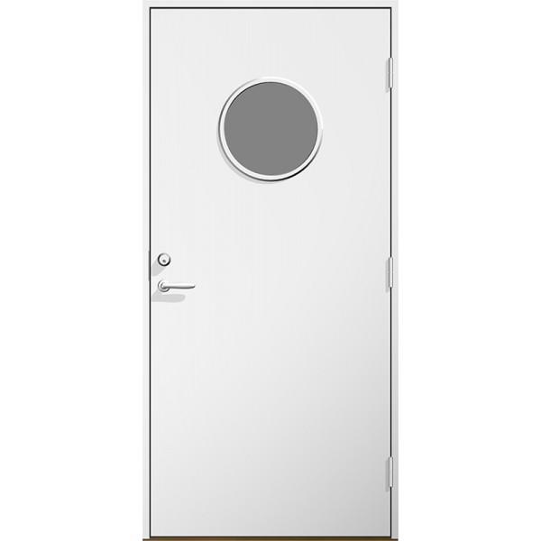Ytterdörr Sylvia klarglas Lagervara - Vitmålad Modul 9x20 Höger