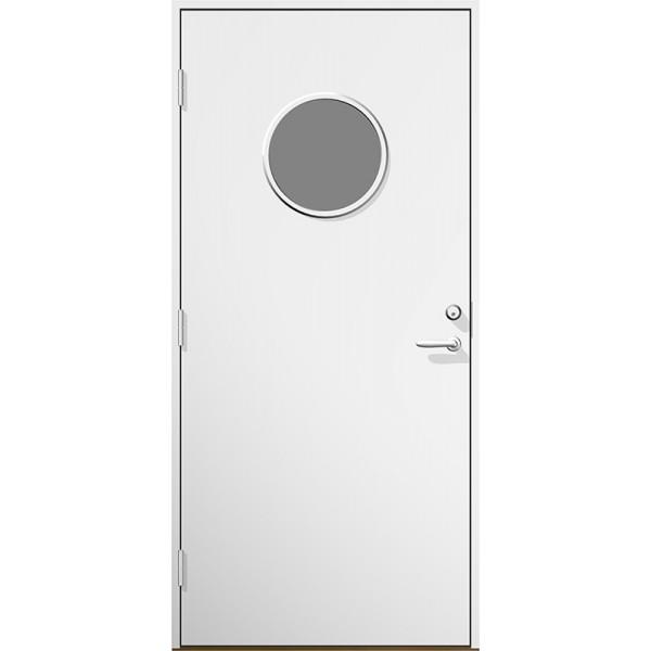 Ytterdörr Sylvia klarglas Lagervara - Vitmålad Modul 8x19 Vänster
